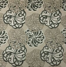 OUTDURA SPELLBOUND COAL FLORAL JACQUARD OUTDOOR INDOOR FURNITURE FABRIC 1 YARD