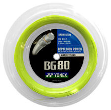 Original Yonex BG80 (yellow) 656ft 200m Reel Badminton String