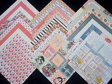 12X12 Scrapbook Paper Cardstock French Paris Bonjour Vintage Fashion 24 Lot