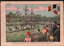 Pyramides Fête de la Jeunesse Gymnastique F.G.S.P.F. Courneuve 1925 ILLUSTRATION