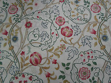 William Morris Curtain Fabric 'Mary Isobel' 2.8 METRES Pink/Ivory 100% Linen