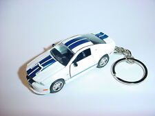 NEW 3D WHITE 2011 FORD MUSTANG SHELBY GT350 CUSTOM KEYCHAIN keyring key GT 11