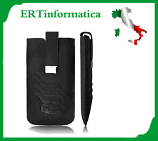 CUSTODIA SACCHETTO FONDINA IN ECO PELLE PER HTC ONE X SENSATION XL BLAK NERO