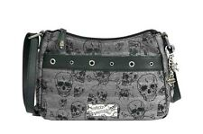 Harley-Davidson® Women's Skull Jacquard Crossbody Hand-bag Purse SC2560J-BLACK