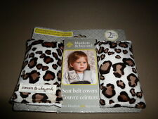 2 Reversible Leopard Print Baby Car Seat Belt Covers, NEW IN PACKAGE