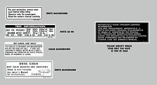HONDA  Z50R 1993 THRU 1999 WARNING LABEL DECAL SET