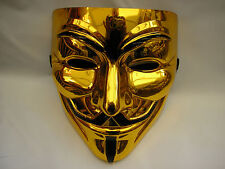 v for vendetta gold halloween strong plastic mask
