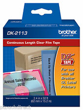 Brother DK2113 Continuous Clear Labels for QL Label Printers Genuine DK-2113
