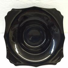 Heavy Square Black Decorative Centerpiece Bowl