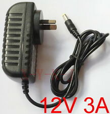 AC 100V-240V Switching Power Supply DC 12V 3A adapter 36W 3000mA AU plug 5.5mm