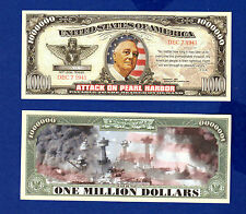 1-ATTACK ON PEARL HARBOR  DOLLAR Bill Collectible--Novelty -- FAKE -MONEY--D