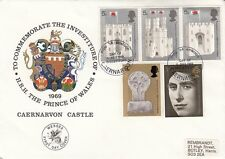 GB :1969 POW Investiture -illustrated FDC-  DAY OF INVESTITURE/CAERNARVON s/ring