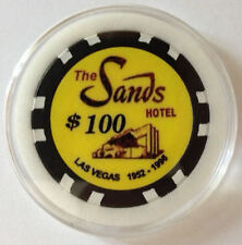 Sands Hotel and Casino Las Vegas Poker Chip Card Guard $100 WSOP