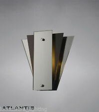Stylish Art Deco Wall Light With Mirror and Glass Panels - Art Deco Fan Style