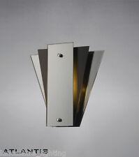 Elegante arte deco muro luce con specchio e pannelli in vetro-ART DECO STILE FAN