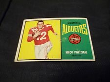 1964 Topps OPC CFL #47 Meco Poliziani Montreal Alouettes - vgex