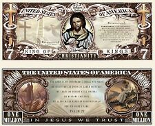 Christianity  Novelty Dollar Bill plus Protector & Free Shipping