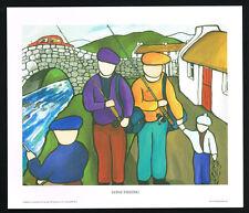 Spinti da pesca / Nord / Irish ARTE gruppo / Belle Stampa / Martin LAVERTY / Irlanda / NUOVO