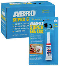 ABRO SUPER GLUE STRONG ADHESIVE 10x 3g - BONDS IN 3 SECONDS HOLDS UP TO 5000 lbs