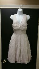 Ted Baker Langley Collection Nude Sleevess Dress Sz 2 US 6