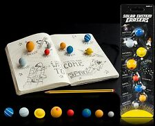 Suck Set Of 8 Solar System Planets Erasers Fun School Small Space Pencil Rubbers