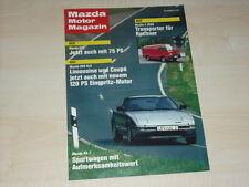 45614) Mazda RX-7 - E 2000 - 323 - 929 - Mazda Motor Magazin 03/1984