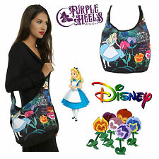 Loungefly / Disney Alice in Wonderland Flowers Can't Talk Floral Hobo Bag