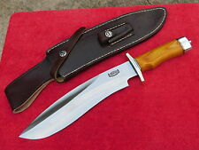 RBH Custom Handmade Sasquatch 16' Bowie Rosewood Handle Sheath Fixed Blade Knife