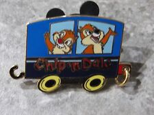 DISNEY JDS CHARACTER TRAIN PIN CHIP AND DALE
