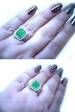 $15,250 3.15ct 100% Natural Untreated Columbian Emerald & 0.60ct Diamond Ring