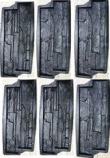 6 Stampi cemento matrice Forma Rivestimento finta pietra fai da te mattoncini