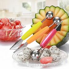 Mini Ice Cream 2 In 1 Melon Scoop Carving Spoon Fruit