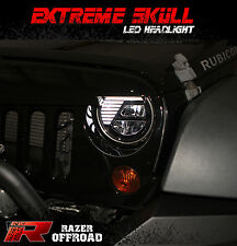 07-16 Jeep JK Wrangler Angry Bird LED Black Headlight DRL+Hi+Lo Beam+Cree LEDs