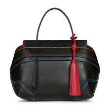 TOD'S SMALL WAVE BAG STITCH MULTICOLOUR BLACK RED BLU TOTE XBWAMRWF201TOPB999