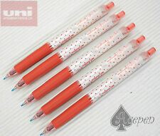 5pcs NEW version Dot RED Uni-Ball Signo UMN-138S 0.38mm roller pen RED ink