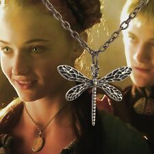GAME OF THRONES DRAGONFLY NECKLACE PENDANT + POUCH SANSA STARK