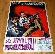 GLI AVVOLTOI DELLA METROPOLI manifesto poster Poliziesco Danet Dupuis Gunfight