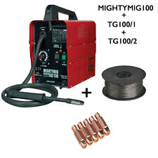 Sealey MIGHTYMIG100 Professional No-Gas MIG Welder With Extra Roll Wire & 5 Tips