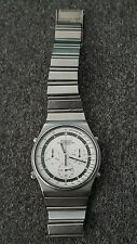 Seiko 7a28-7010 Speedmaster white face chronograph watch - top condition, v rare