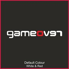 REVO GAME OVER Decalcomania, Vinile, Adesivo, Auto, Divertente, paraurti, JDM, Focus, VAG, RS, n2196