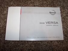 2008 Nissan Versa Owner Owner's User Guide Operator Manual S SL CVT 1.8L 4Cyl