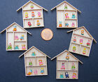 1:12 Scale 6 Clay Figures In A Wooden Frame Dolls House Miniature Accessory