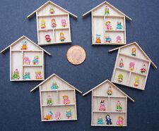 1:12 Surtidos Figuras De Arcilla (6) en un marco de madera casa de muñecas en miniatura accesorios