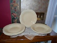 Set of 4 Crate and Barrel Rimmed Soup Cereal Ice Cream Bowls Made in Portugal