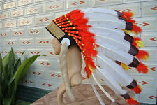21inch indian feather headdress indian warbonnet american costume