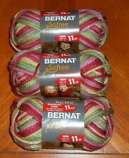 Bernat Softee Chunky Yarn Lot Of 3 Skeins (Summerset Ombre #29222)