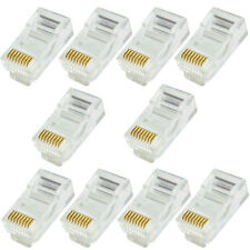 10x RJ45 CAT5e Cable Crimp Connectors-Jack Plugs 8P8C Network Ethernet Data End