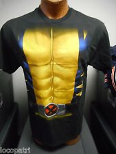 Mens Marvel Brand Wolverine Costume Shirt New S