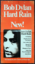 BOB DYLAN REPRO 1976 - HARD RAIN - PROMOTIONAL PROMO POSTER . NOT CD DVD