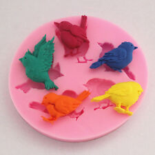 Birds Silikon Form Fondant Mould Marzipan Tortendeko Mould Ausstecher Küche Tool